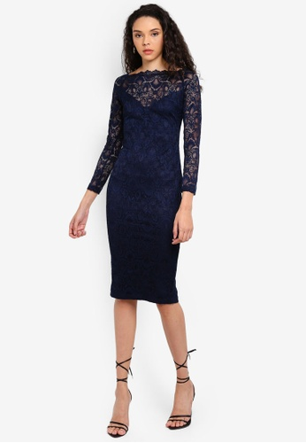 96c5d2376fb Lace Long Sleeve Midi Dress