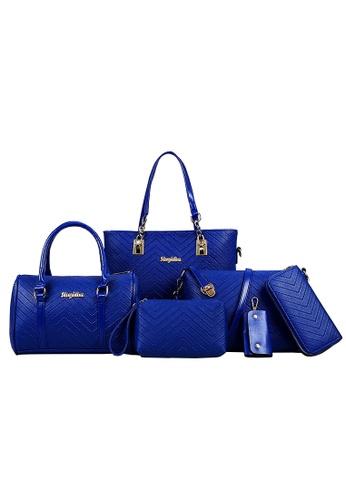 TCWK blue 6 in 1 Ladies Handbag TC258AC18MSJMY_1