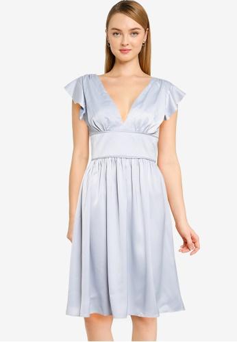 CHI CHI LONDON blue Chi Chi Kyomi Dress 7597CAA93AD8EBGS_1