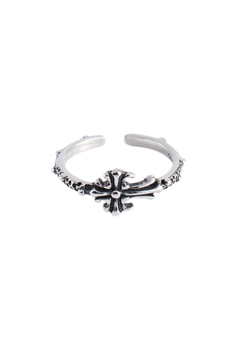A-Excellence silver Premium S925 Sliver Cross Ring 133B9AC1A03D01GS_1