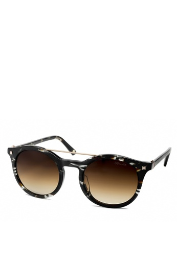 HEX EYEWEAR black and multi and brown Scientist - Charles D. - Sunglasses - Italy Design HE671AC2V1KHHK_1