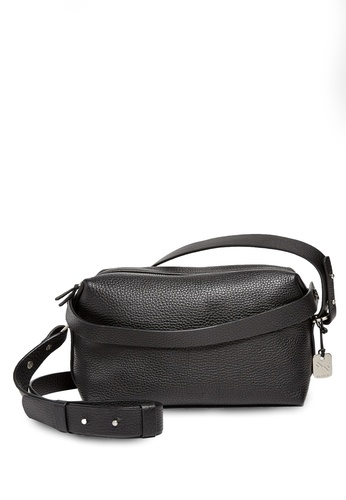 Skagen black Skagen Small Ronne Leather Sling Bag SWH0162001 SK533AC13CHIMY_1