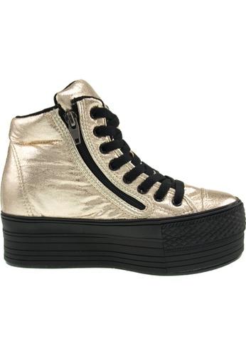 Maxstar gold Maxstar Women's C50 Padded Lining Hidden Heel Platform PU Sneakers US Women Size MA164SH61POCSG_1
