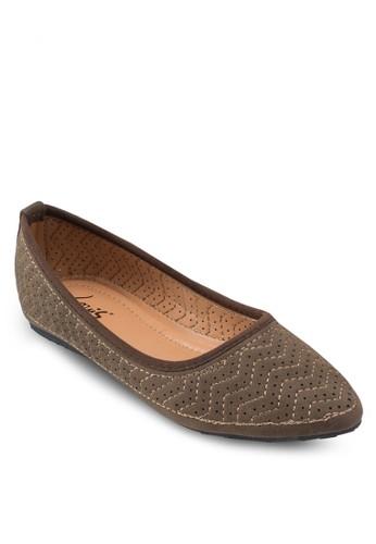 刺繡印花平底鞋, 女鞋,esprit門市 鞋