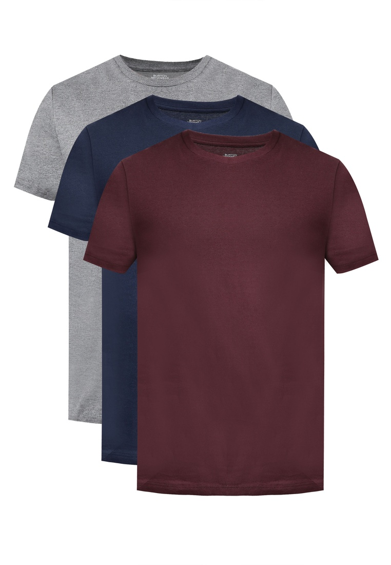 Shirts London Burton T Marl Neck Menswear Navy Multi Pack Crew 3 And Grey Raisin 7vz88q6