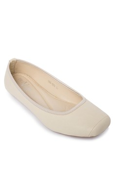 Square Toe Ballet Flats