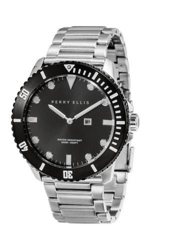 Perry Ellis silver Perry Ellis Deep Diver Men 46mm Quartz Stainless Steel Watch 02005-02 12034ACE7B0583GS_1