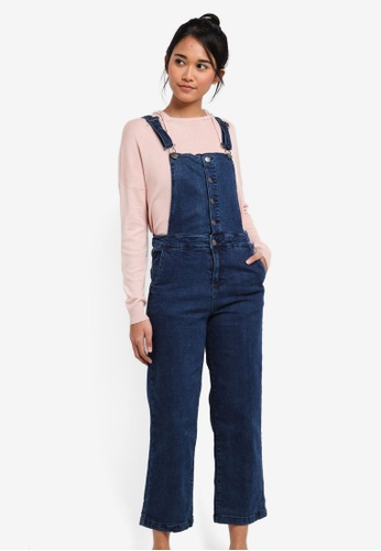 Cotton On blue Cropped Overall CFE5EAAEFA9B5EGS_1