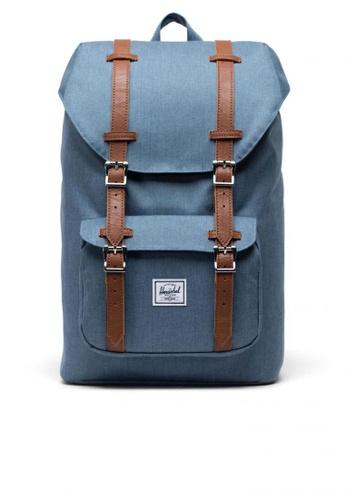 Herschel blue Backpack Little America Mid A6DCDAC4E739BAGS_1