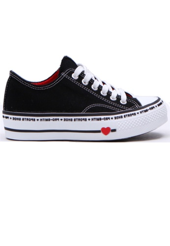 Crystal Korea Fashion 黑色 韓國制百搭平底舒適休閒鞋 E8E69SH762BFF7GS_1