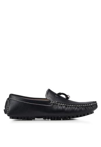 High Cultured black Stitch Detail Loafers 318 C561ASH1692327GS_1