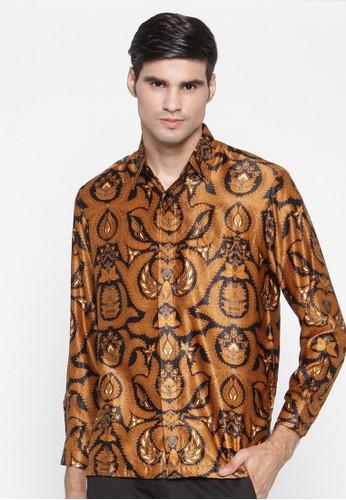 Waskito Kemeja Batik Semi Sutera - KB LE 860511 - Brown