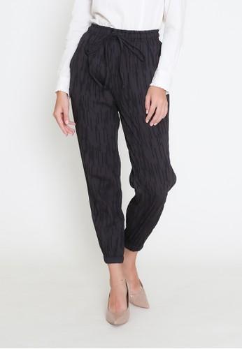 MAMORA black Mamora Black Stripe Pants 72377AAEA6D1E4GS_1