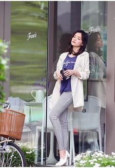 [OB] Checkered Slim Fit Stretch Pants