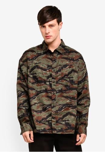 Cotton On green Long Sleeve Workwear Shirt C3EDBAAE327276GS_1
