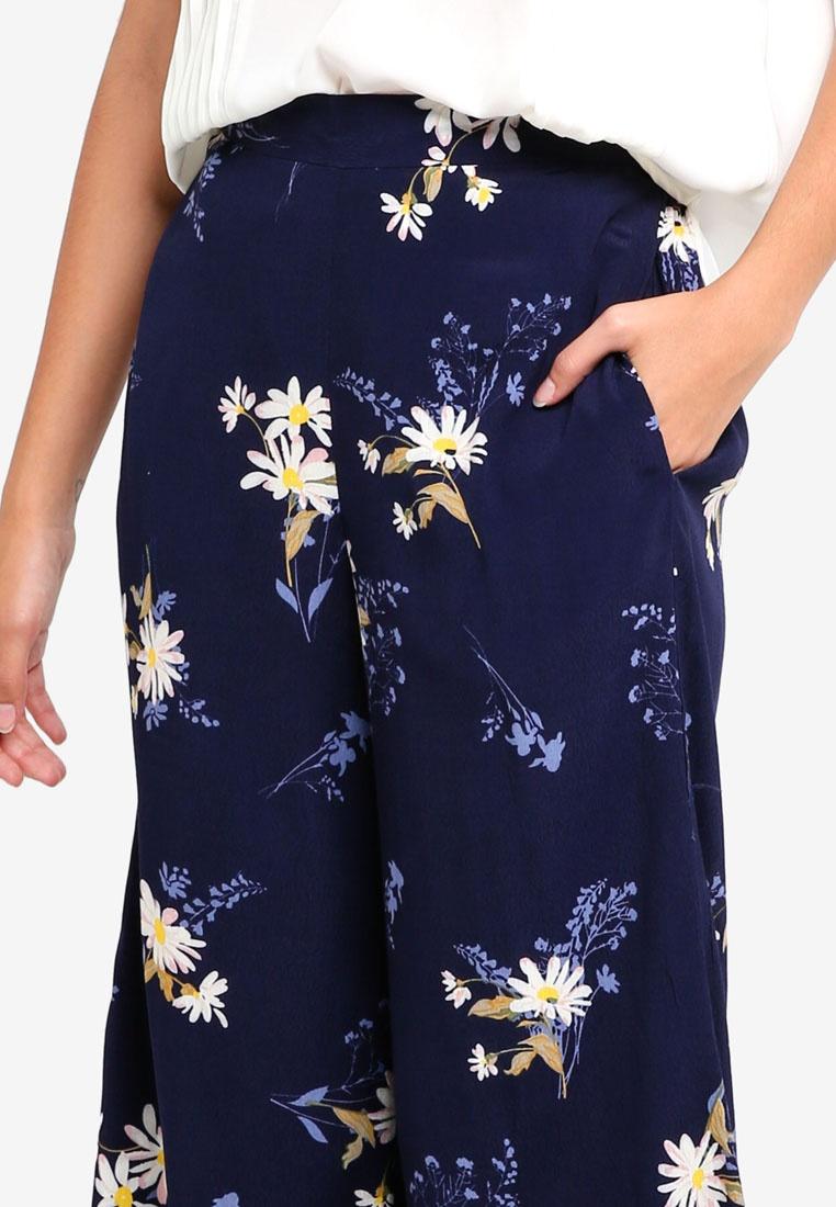 Navy Culottes Leg WAREHOUSE Daisy Wide vw7xS