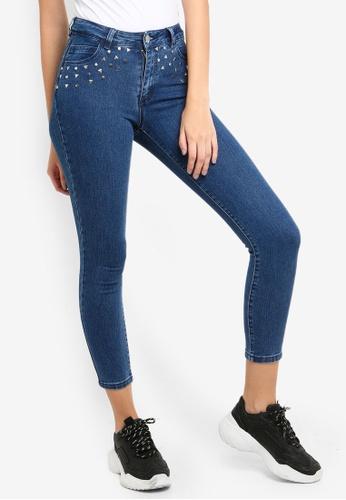 Cotton On blue Mid Rise Grazer Skinny Jeans 499B8AA84B3368GS_1