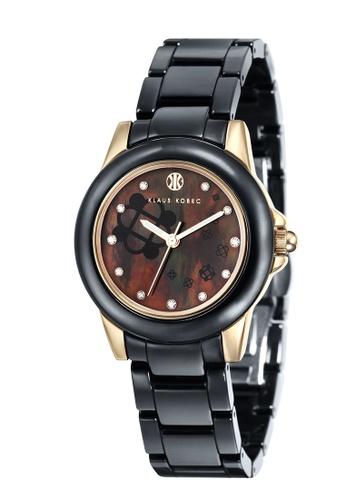Klaus Kobec black Klaus Kobec Women's Ceramic Bracelet Watch - KK-10008-03 E011DAC94F7827GS_1