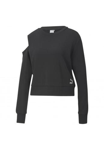 PUMA black T7 2020 Fashion Crew Neck Women's Sweater 3DCD5AAAAA2A67GS_1