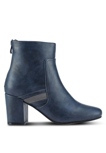 ZALORA 海軍藍色 Ankle Boots With Trim 54DC3SH6588DB3GS_1