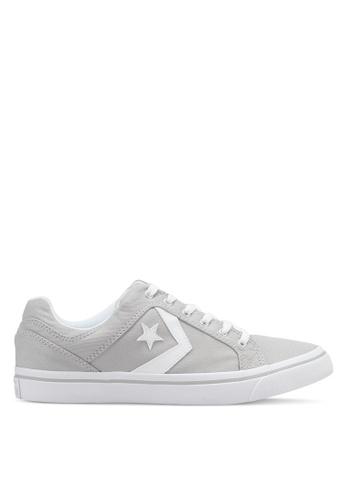 Converse grey and white EL Distrito Ox Sneakers CO302SH0SW77MY_1