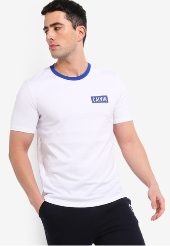 Calvin Klein 白色 品牌刺繡T恤 6ABC5AAA2ED4F5GS_1