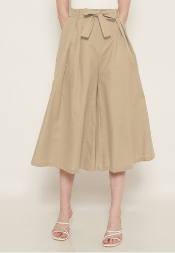 NOA EVERYDAY brown Celana Kulot MAYUMI with Belt - Mocca 14B44AAC683BD5GS_1