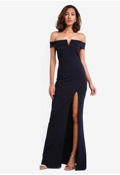 36a9d22fdd4dc 41% OFF AX Paris Notch Front Maxi Dress RM 225.00 NOW RM 131.90 Sizes 8 10  12 14