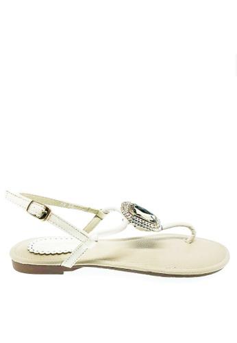 Twenty Eight Shoes 白色 礸石型水晶涼鞋A8-160 A589ASH1FC8BE4GS_1