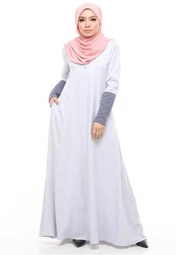 Imaan Boutique grey Nassimo Jubah Dress Gray Dawn 1C3F2AAE383127GS_1
