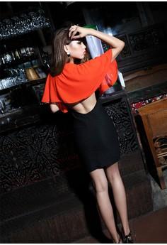 Women's Stylish Party Red Sexy Dress