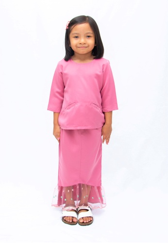 Eloque pink Arissa Mermaid Kurung in Pink 640A9KAAEA7A92GS_1