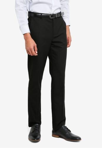 Topman black Black Slim Suit Trousers FE983AA0DB1C2DGS_1