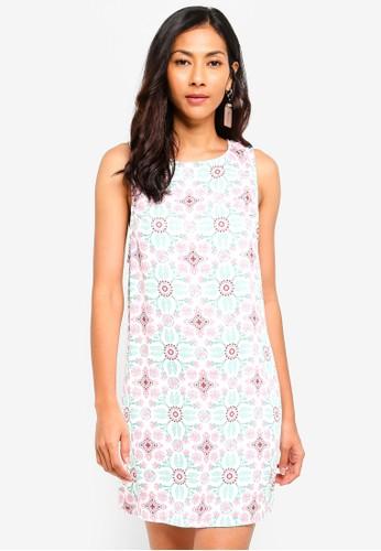 Glamorous multi Tie Back Printed Mini Dress 0AC39AA7E6D319GS_1
