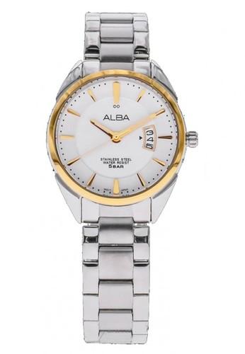 Alba silver Jam Tangan Alba Fashion AH7H62 Strap Stainless Steel Silver 549BCAC96D17F1GS_1