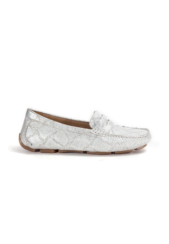 Shu Talk silver Amaztep Comfortable Penny Leather Loafers 6EF31SH2DCBD7AGS_1