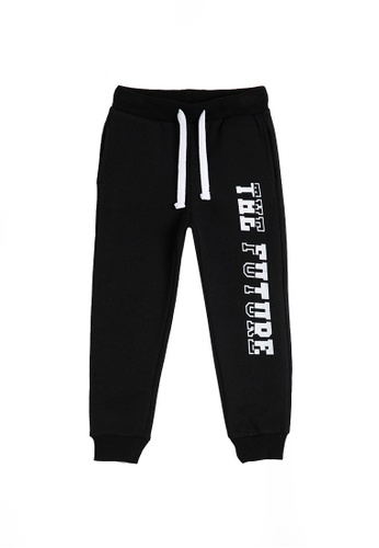 KOTON black Graphic Sweatpants 30B2CKA8E8AA95GS_1