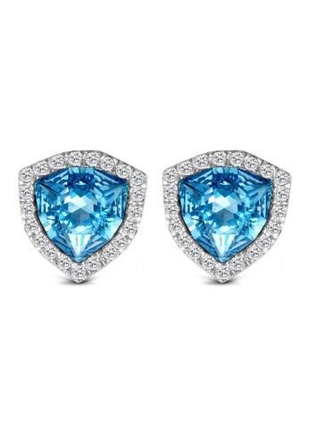 Shop T400 Sterling Silver Jewelry 925 Sterling Silver Cubic Zirconia Stud Earrings Online on ZALORA Philippines