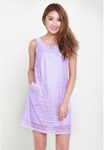 Leline Style purple Jacy Shift Lace Dress LE802AA20ANNSG_1