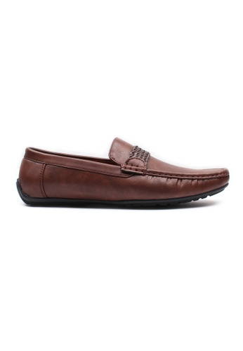 Moley brown Faux Leather Twine Strap Loafer MO329SH0HAVKSG_1