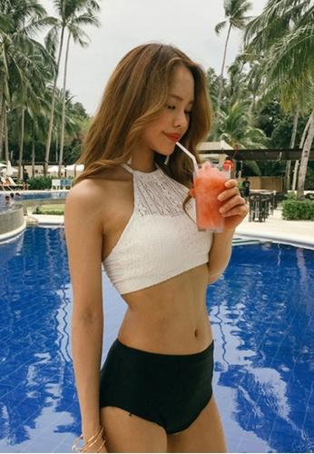 42566e2e477 Korean Trendy High Waisted Bikini Set