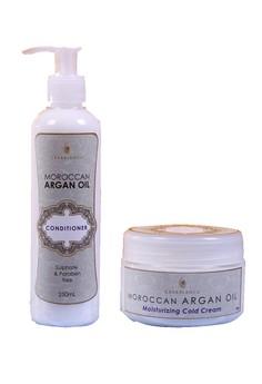 Argan Oil Moisturizing Cold Cream 100g with Argan Oil Conditioner 250ml Bundle