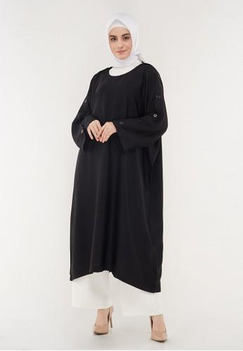 Hanalila Daily Hijab black Malika Dress In Black A8F7DAA3764662GS_1