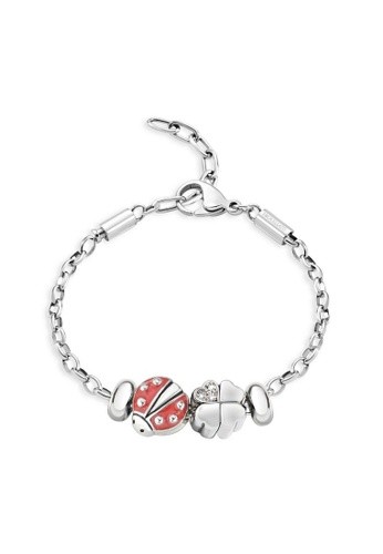 Morellato silver Drops Bracelet SCZ676 Stainless Steel Crystals Enamel 40649AC59A5185GS_1