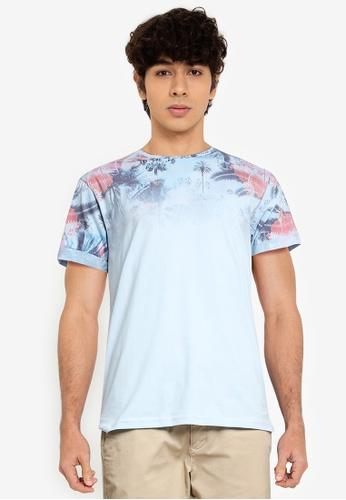 Indicode Jeans blue Palencia Tropical T-Shirt 1A42CAAF006380GS_1