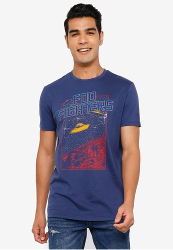 Springfield navy Foo Fighters T-Shirt 67F43AAA5D4FAAGS_1