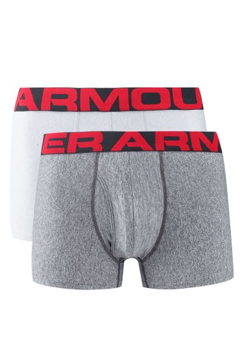 Under Armour grey Tech 3in 2 Pack Boxers EECD3AA7CF430EGS_1