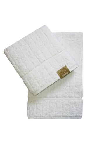Cotton Fields white Cotton Fields Bath Towel Stripes 58FEBHLCEB0799GS_1