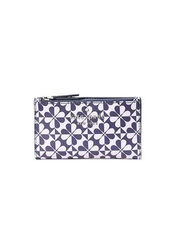 Kate Spade purple and multi Kate Spade Hollie Spade Clover Geo Small Slim Bifold Wallet A7886AC3E4E7C2GS_1