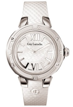 guy laroche swiss made - GL6214-02 - jam tangan wanita - leather strap - white